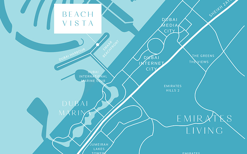 Beach Vista by Emaar Master Plan
